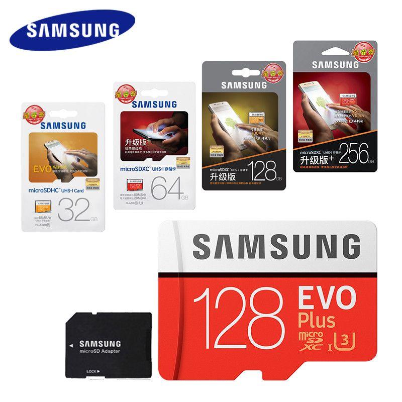 SAMSUNG 100Mb/s Micro SD Card 128GB 32GB 64GB 256GB Memory Card Class10 U3 Flash TF Microsd Card for Phone with Mini SDHC SDXC