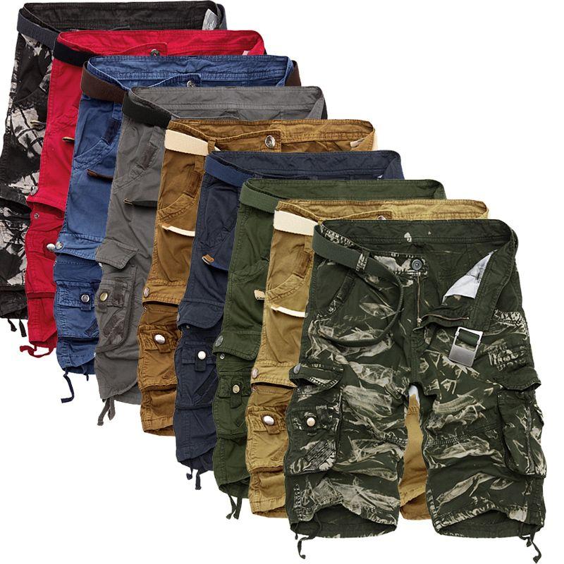 Cargo Shorts Men Cool Camouflage Summer Hot Sale Cotton Casual Men Short Pants Brand Clothing Comfortable Camo Men Cargo Shorts