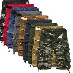 Cargo Shorts hombres camuflaje fresco verano Venta caliente algodón Casual Men pantalones cortos marca ropa cómoda Camo hombres Cargo Shorts