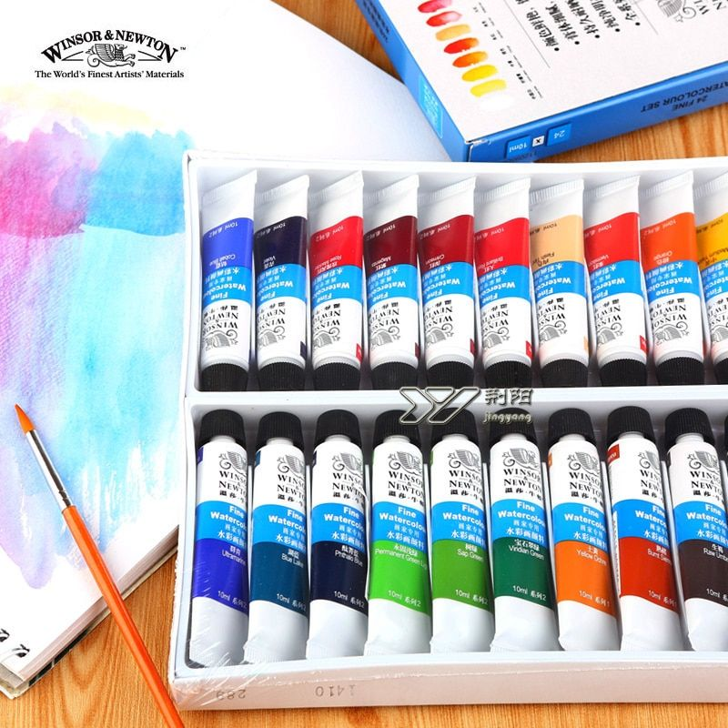Livraison gratuite winsor newton aquarelle paints24 couleur 18 couleurs 12 couleur Windsor Newton aquarelle 10 ml