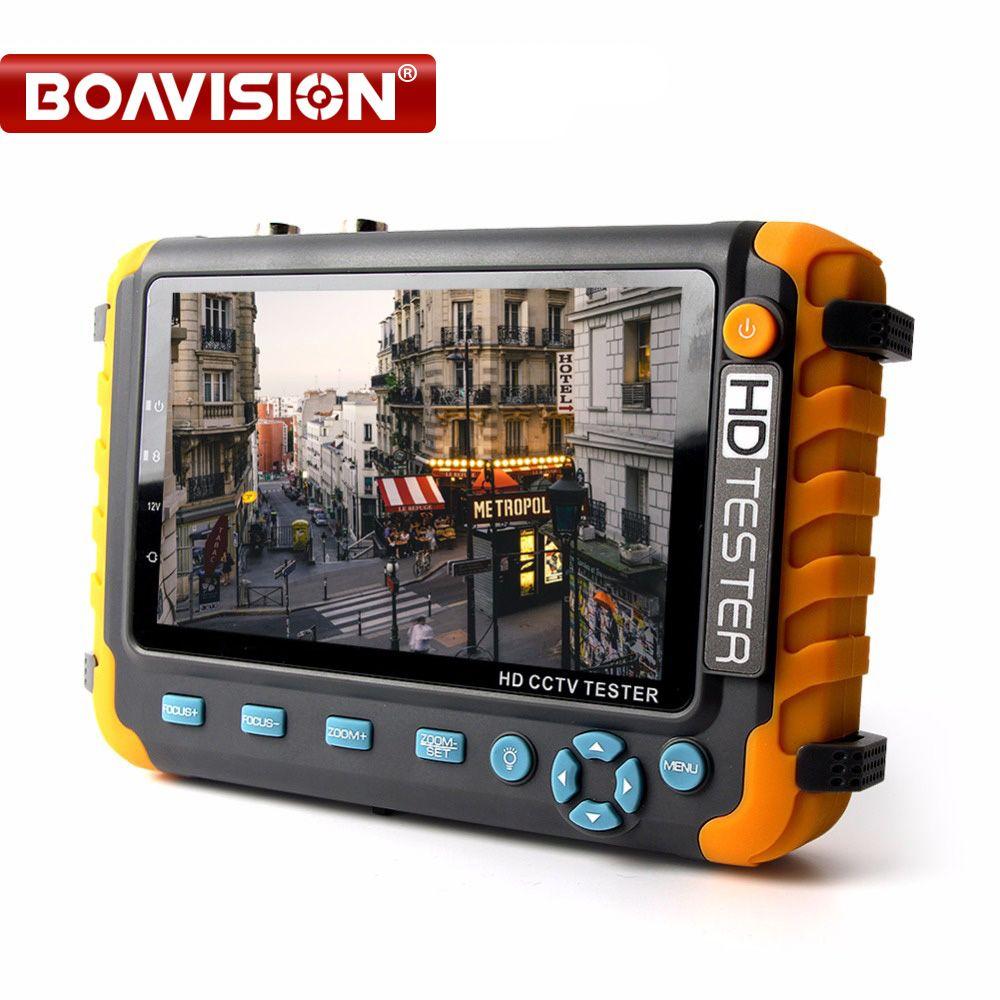 Boavision 5 дюймов TFT ЖК-дисплей 1080 P 4 в 1 TVI AHD CVI аналогового видеонаблюдения Тесты er безопасности Камера Тесты er Мониторы VGA HDMI Вход аудио Тесты