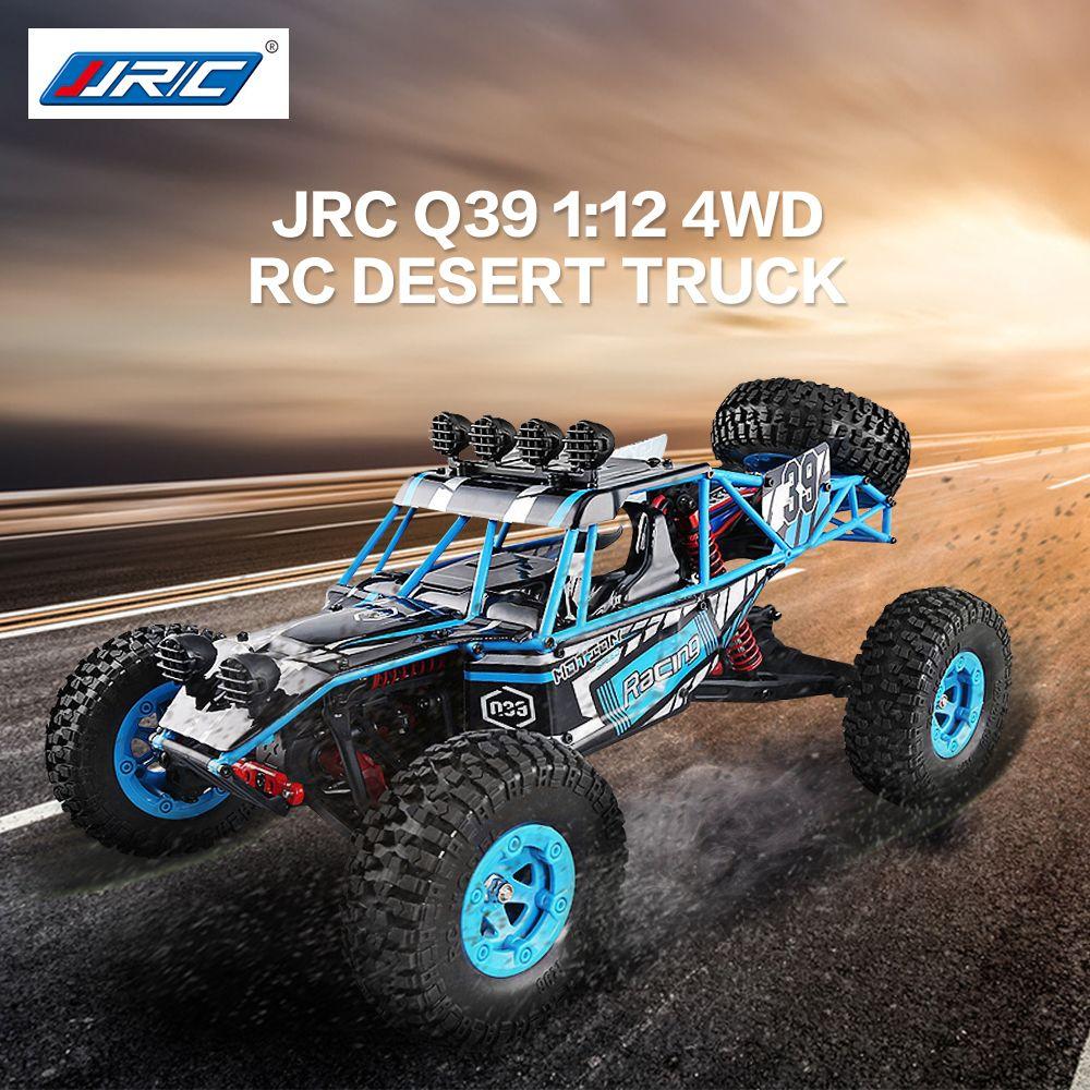 2018 New JJRC Q39 1:12 4WD RC Desert Truck RTR 35km/h+ Fast Speed 1kg High-torque Servo 7.4V 1500mAh LiPo Battery F22485