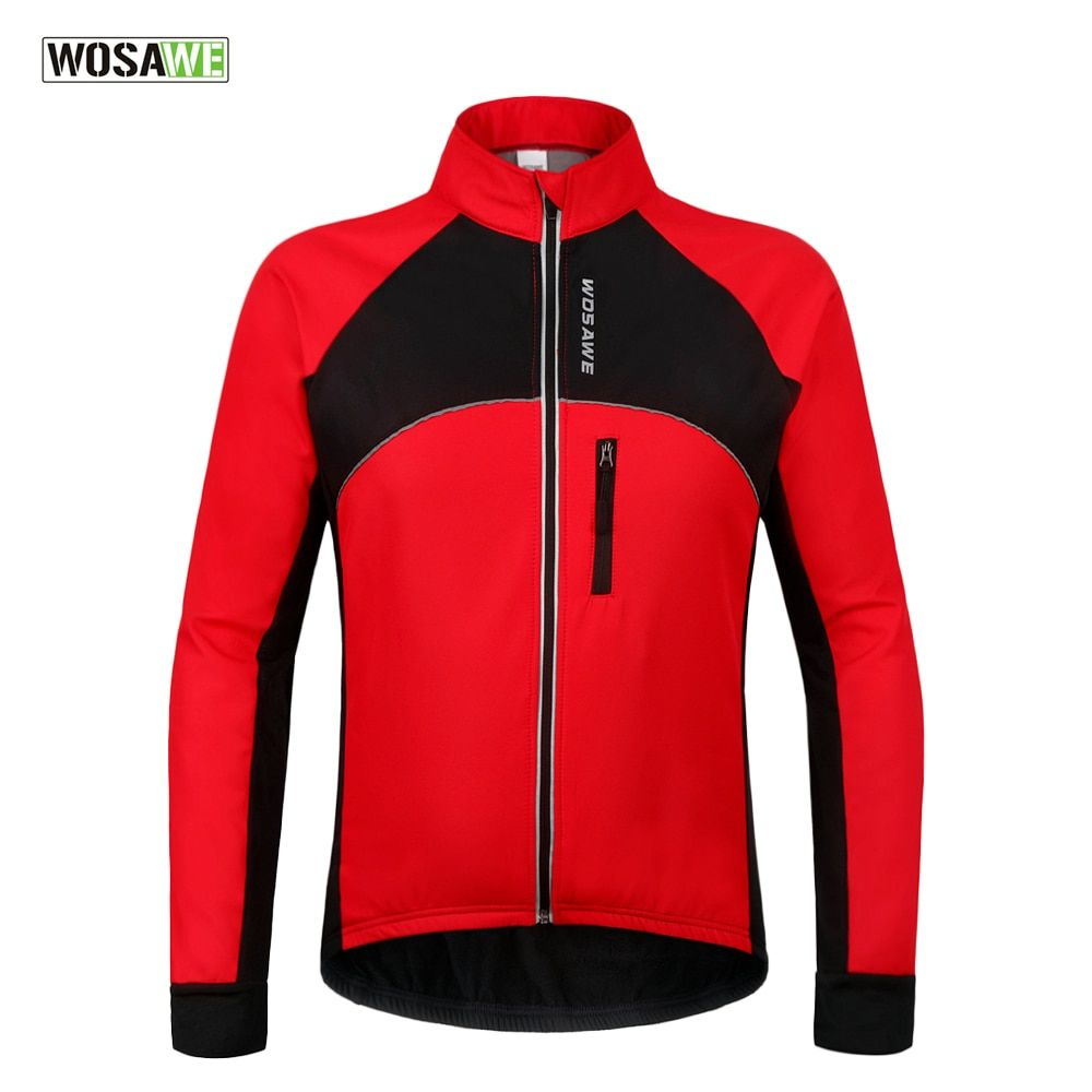 WOSAWE Thermal Cycling Jackets Winter Warm Up Bicycle Clothing Windproof Waterproof Sports Wear MTB Bike Jersey ropa ciclismo