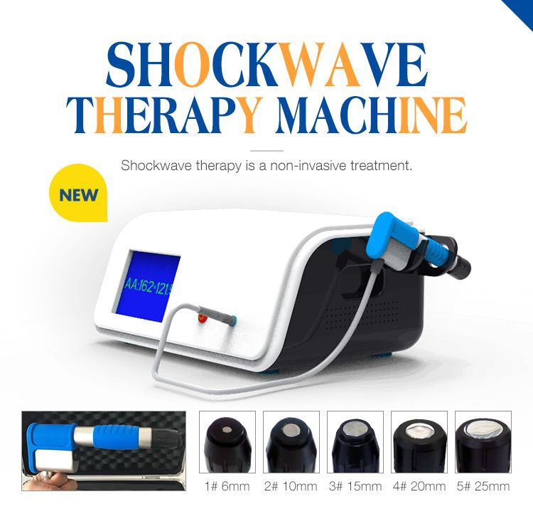 New Generation Compressor 8 Bar Radial Type ESWT Device Extracorporea Shock Wave Therapy Machine for Pain Relief
