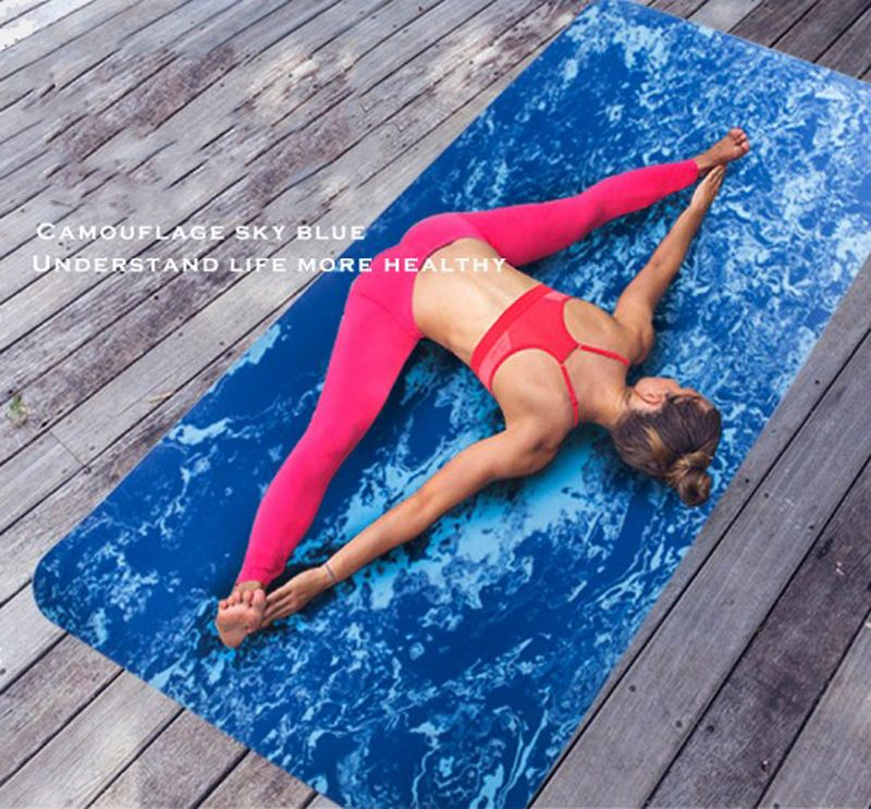 183*80*0.8cm TPE Non-Slip Camouflage Yoga Mat Exercise Fitness Mat Eco-friendly Thickening Increase Wide Yoga Mats Body Building