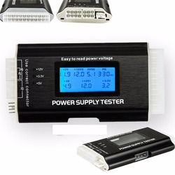 1Pc Computer PC Power Supply Tester Checker 20/24 pin SATA HDD ATX BTX Meter LCD Wholesale