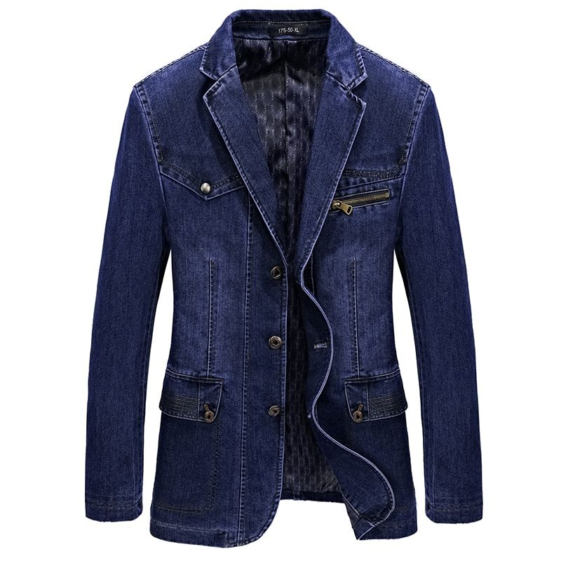 M-4XL men jacket and coats brand clothing denim jacket Fashion mens jeans jacket Spring and Autumn outwear male cowboy