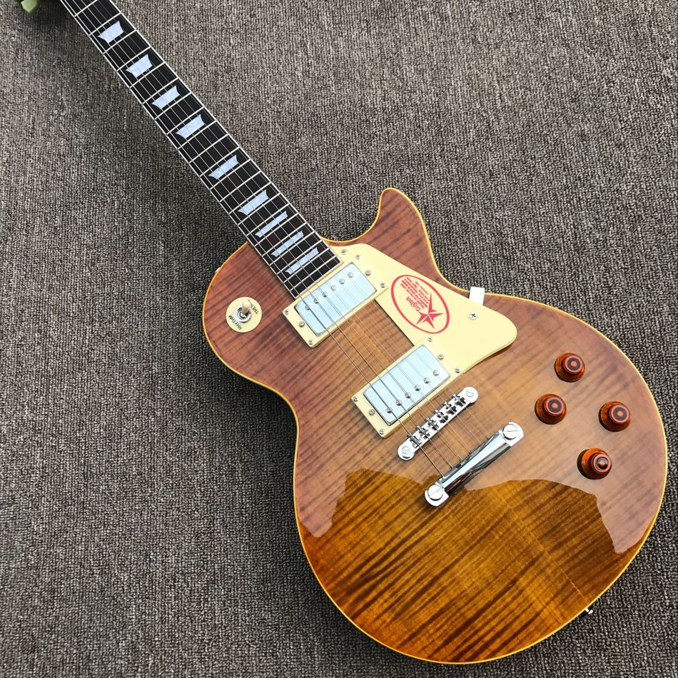 Free delivery upgrade custom store 1959 R9 tiger flame LP electric guitar standard LP 59 Electric Guitar wholesale