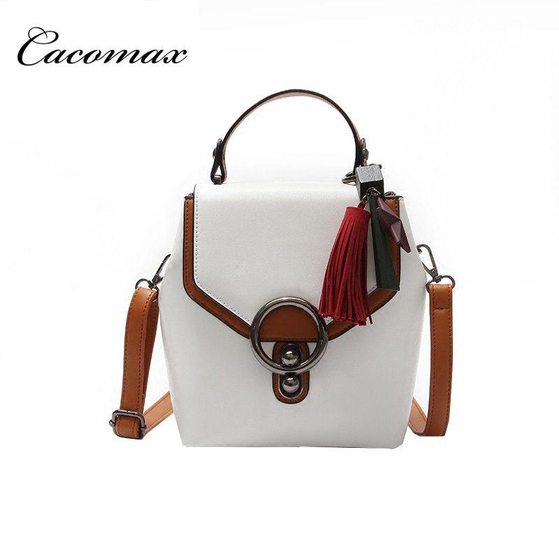 2017 summer new simple shoulder bag buckle multi-use package fashion hit color package female shoulder Messenger bag
