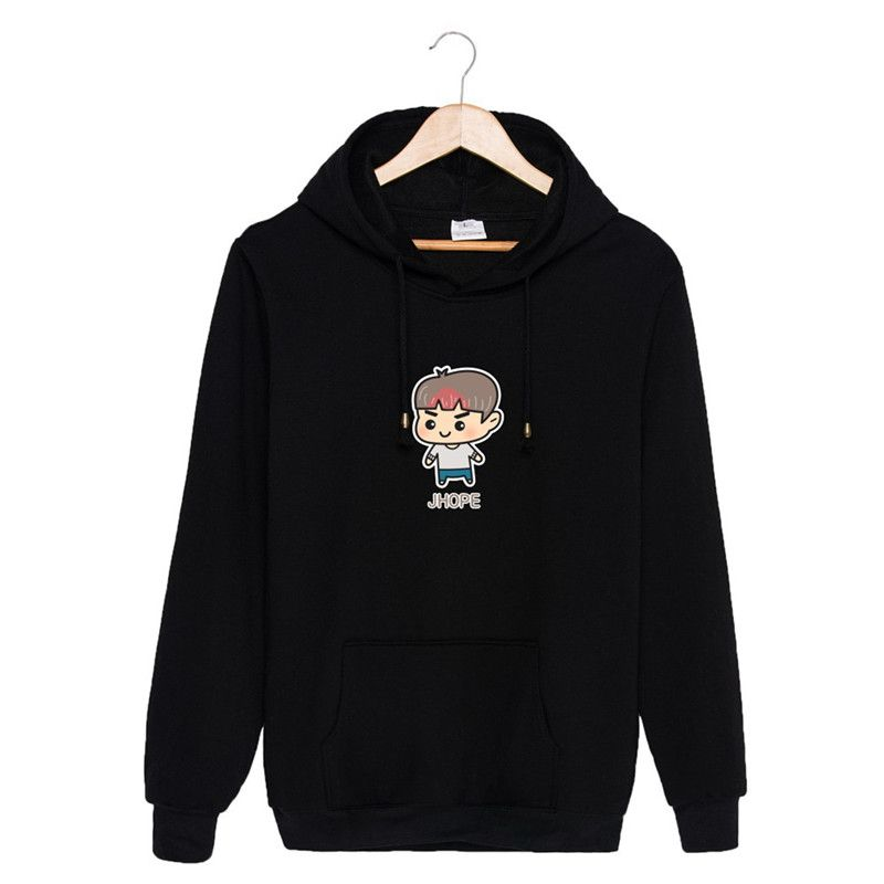 KPOP BTS Bangtan Boys WINGS Album YOU NEVER WALK ALONE Cartoon Cotton Hoodies Hat Clothes Pullovers Sweatshirt PT447