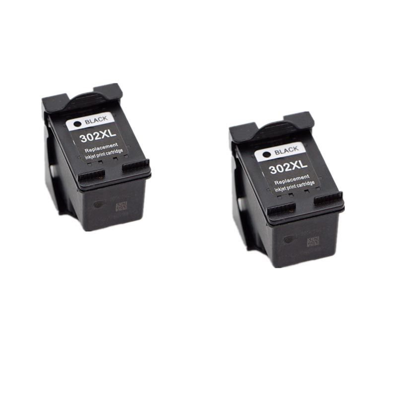 2 black Ink Cartridge For HP 302 Cartridge 302 XL For HP Deskjet 2130 2135 1110 3630 3632 Officejet 3830 3834 4650 4655 Printer
