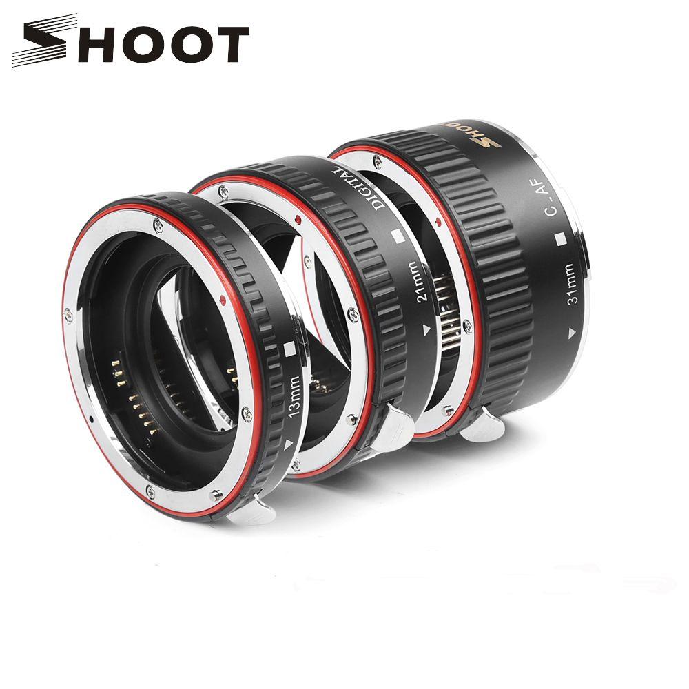TIRER Rouge Métal TTL Auto Focus Ring Macro Extension Tube pour Canon 600d 500d 80d EOS EF EF-S 60D Pour canon Accessoires pour Appareil Photo