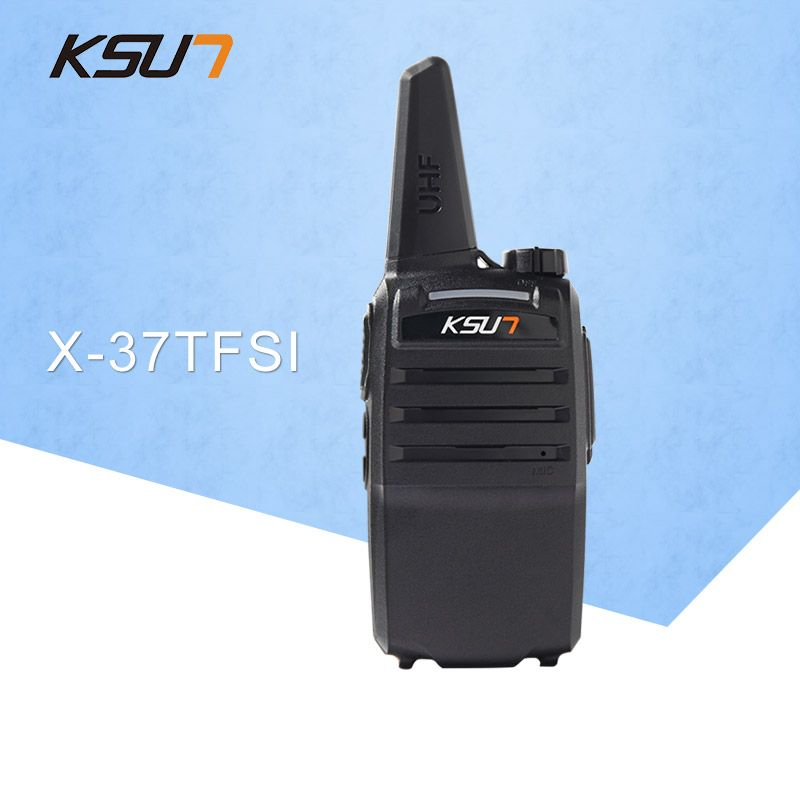 1PCS KSUN X-37TFSI Walkie Talkie 6W High Power 4000mAh Li-ion Battery New BUXUN Dual Band Two Way Radio