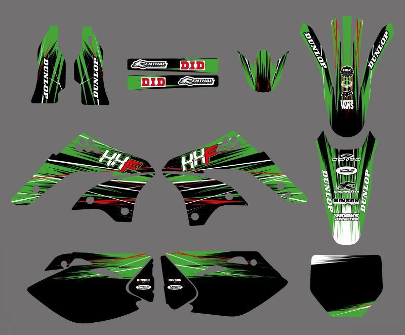 0236 New Style TEAM GRAPHICS&BACKGROUNDS DECALS STICKERS Kits  for KX450F KXF450 2006 2007 2008