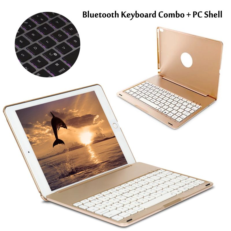 7 Colors Backlit Light Wireless Bluetooth Keyboard Case Cover For <font><b>iPad</b></font> Pro 10.5 New 2017 + Stylus + Film