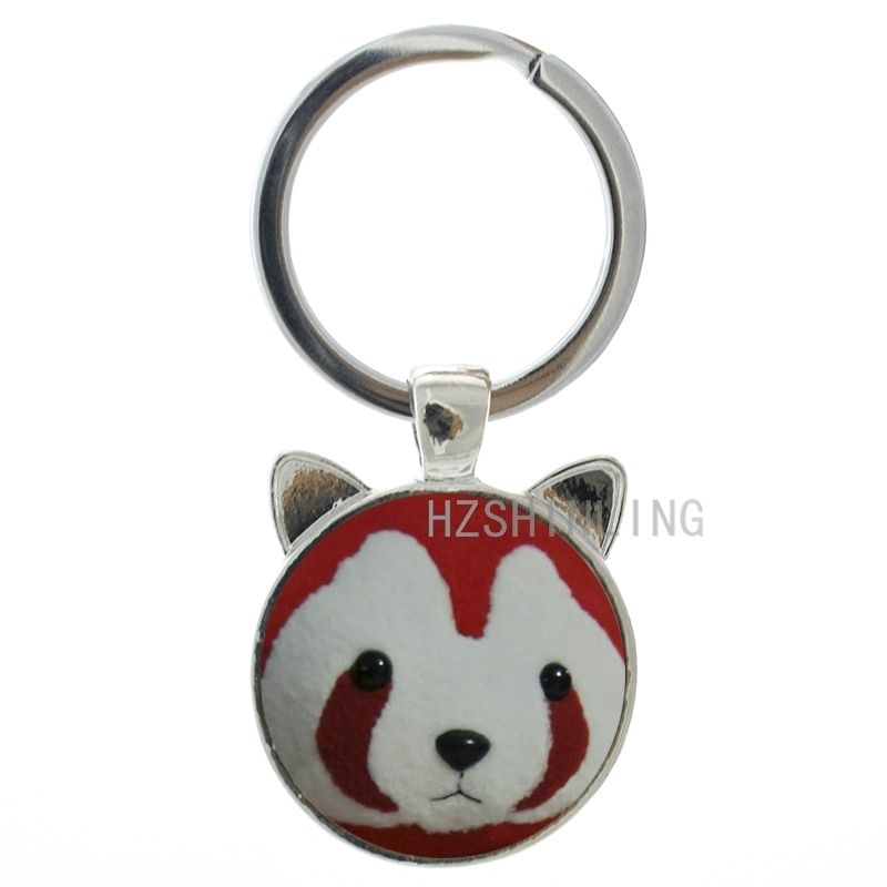 New cute cartoon bear glass gem metal keychain popular men women animal ear pendant key chain ring holder gift for friends CN526