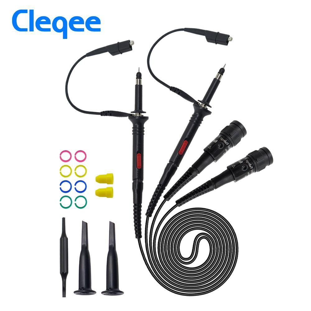 Cleqee Haute qualité P2000 Série DC-60MHz ~ 200 MHz Oscilloscope Sonde Pour Tektronix HP X1/X10 P2060 P2100 P2200 BNC Test Lead kit