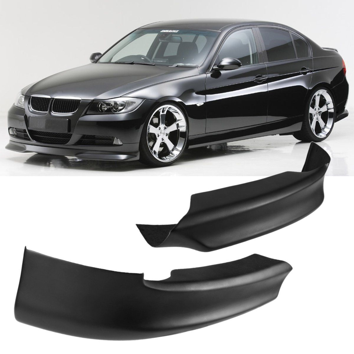 A Pair Front Bumper Lip Spoiler Splitter High quality For BMW E90 325i 335i 328i 330i 2005-2008