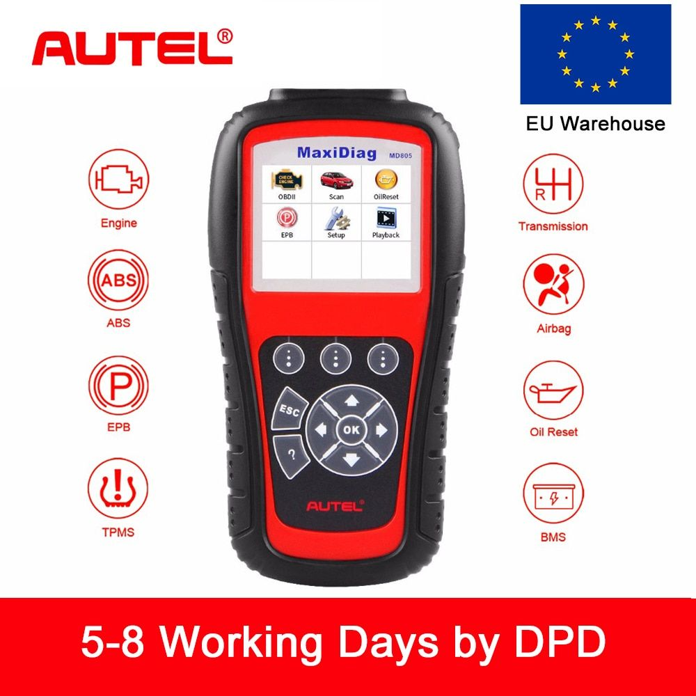 Autel MD805 MaxiDiag Elite Alle System Auto Diagnose-Tool Code Reader Scanner Diagnose Werkzeug ABS SRS EPB Besser MD802