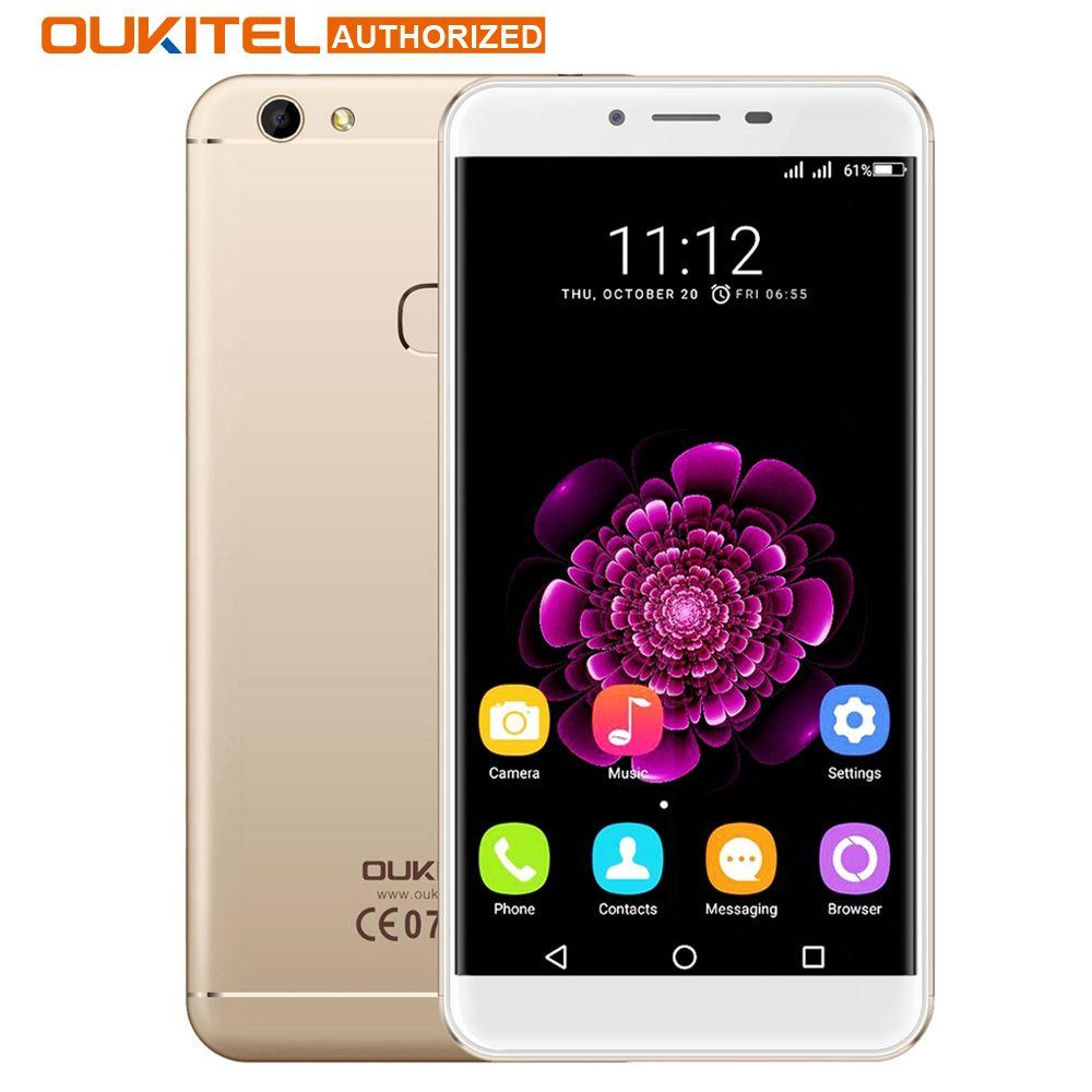 Oukitel U15S 5.5''Smartphone Android 6.0 MT6750 Octa Core 4GB+32GB 13.0MP 1920x1080 FHD Fingerprint ID 4G FDD Cellphone