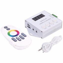 DC5V-24V WS2812B WS2811/WS2813/USC1903 Sihir LED tape X2 digital colorful musik controller dengan RF sentuh remote Max 1000 piksel