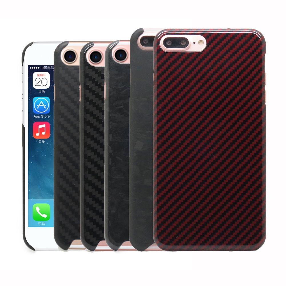 100% Réel de Fiber De Carbone Couverture de Cas Pour l'iphone 6 6 s 6 Plus 7 8 Plus 8 Plus 7 plus Aramide Fiber De Cas 0.7mm Ultra Mince N