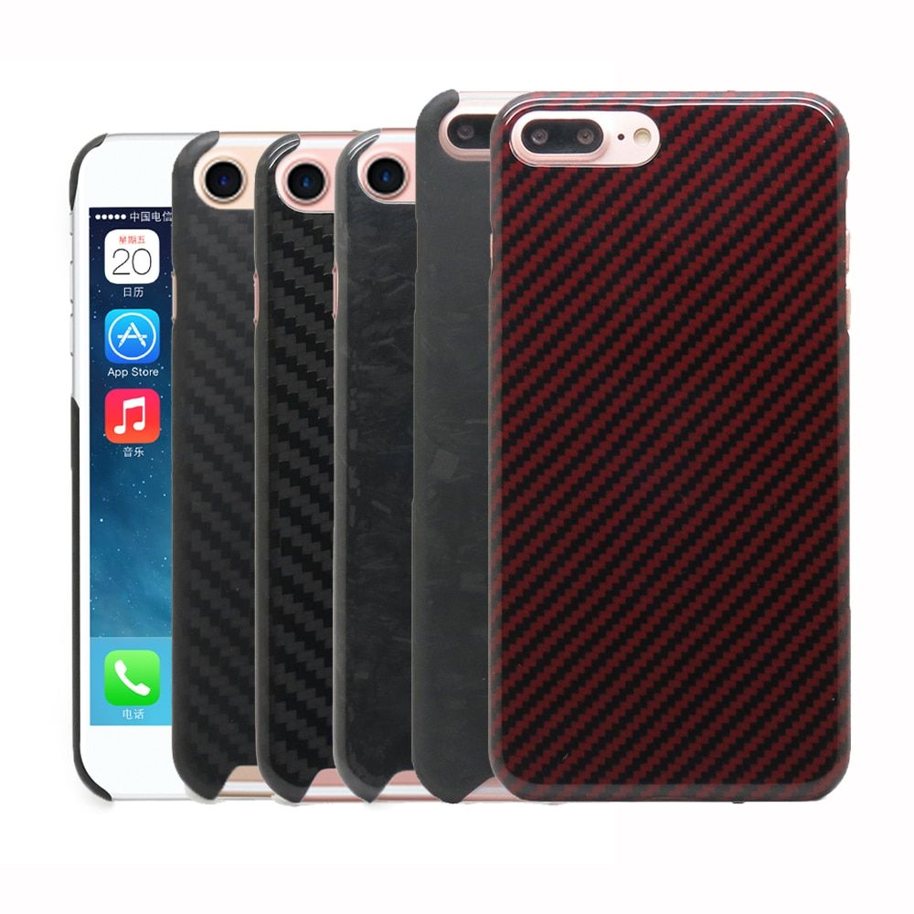 100% Real Carbon Fiber Back Case Cover For iPhone 6 6S 6 Plus 7 8 Plus 8Plus 7Plus Kevlar Aramid Fiber Case 0.7mm Ultra Thin N