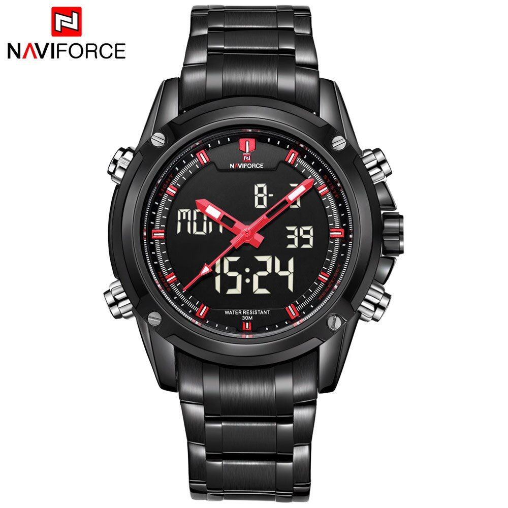 New Naviforce Fashion Watches Men Luxury Brand Men's Quartz Hour Analog Digital LED Sports Watch Man Army Military Wrist Watch
