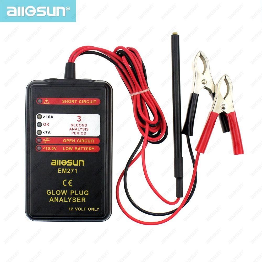 Automotive Glow Stecker Analyser Auto Motor Tester Led-anzeige Auto Glow Ausfall Diagnose Werkzeug 12 v Fahrzeug System Alle- sonne EM271
