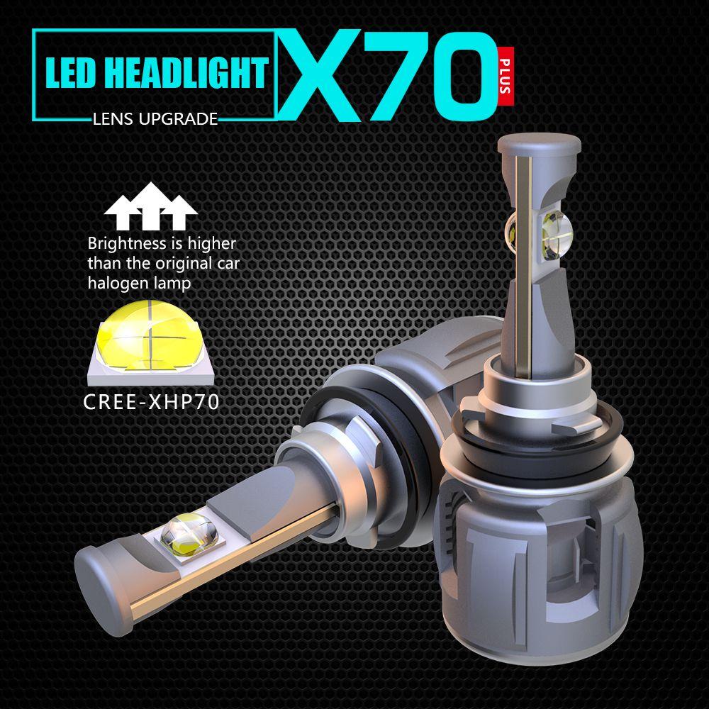 1 satz H8 H9 H11 120 watt 15600LM XHP-70 Objektiv Chips X70 Auto LED Scheinwerfer Vorne Lampe Lampen H4 H7 9005/6 HB3/4 9012 D1S/D2S/D3S/D4S 6 karat