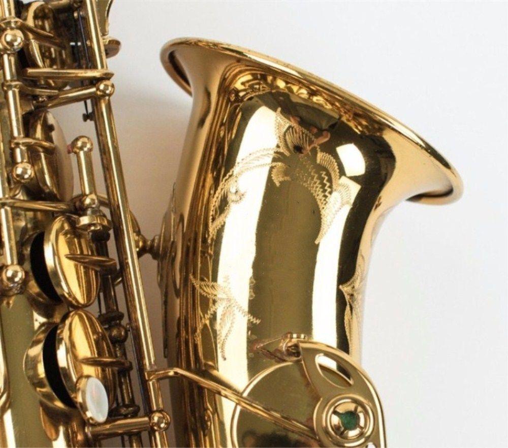 Fedex UPS Free Copy Mark VI Alto Saxophone Near Mint 97% Original Lacquer Gold Sax Alto Eb with mouthpiece ,case,gloves