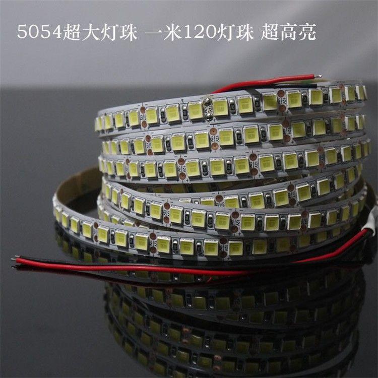 1m/2m/3m/4m/5m 5054 LED Strip Light Diode Ribbon DC 12V 600LEDs High Lumen Ultral Bright 5050 Upgraded Version LED Tape Light