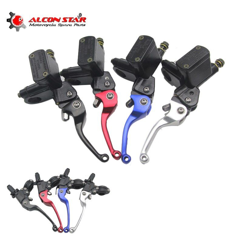 Alconstar- Aluminum ASV Clutch & Brake Folding Lever Fit Most Motorcycle ATV Dirt Pit Bike Motocross WR KLX CRF YZF RMZ EXC CQR
