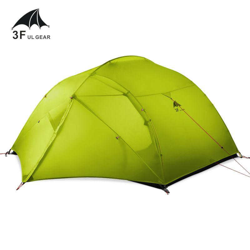3F UL GETRIEBE 15D silicon Beschichtung 3 person 3/4 Jahreszeiten Camping Wandern Rucksack ultraleicht zelt mit Passenden Boden blatt