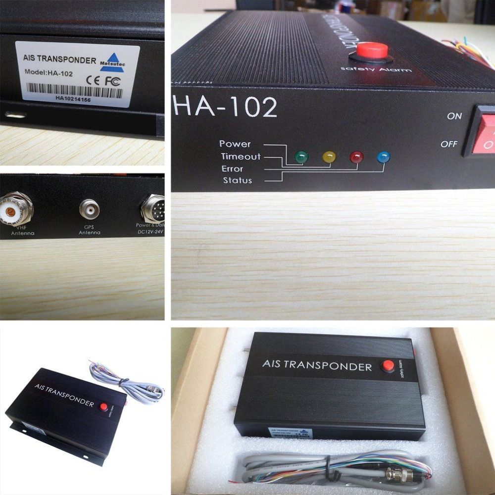 Marine AIS receiver and transmitter system CLASS B AIS Transponder Dual Channel Function CSTDMA Function