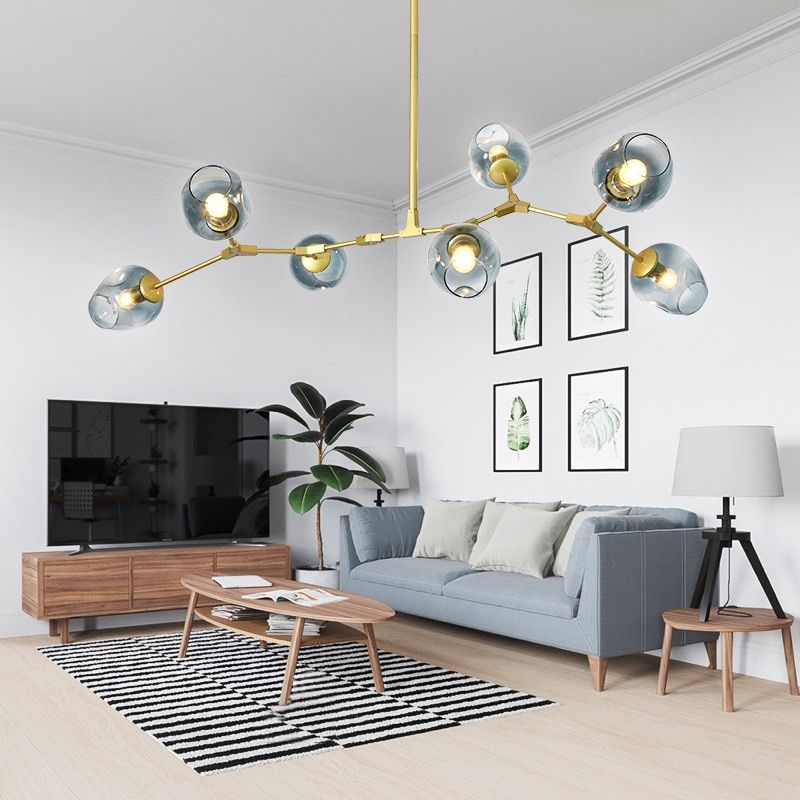 Vintage Magic Hanging Light Stylish Ball Industrial Loft Ironing Droplight Black Gold Tree Classic Modern LED Pendant Lamp