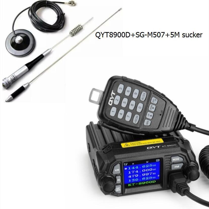 QYT 8900D car mount émetteur-récepteur grand Écran mobile talkie walkie 25 W Radio stations pour les camionneurs mobile ham radio émetteurs-récepteurs
