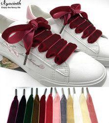 80 cm/120 cm Length 1.6 cm Width Velvet Surface Shoelaces Women Men Black White Blue Colorful Leather Sports Casual Shoes Laces