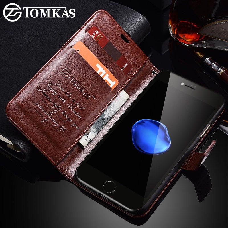 TOMKAS Fall Für iPhone 7 8 Plus PU Leder Brieftasche Stil Ständer Business Phone Bags Koffer Für iPhone X 8 7 Plus 6 Plus fall