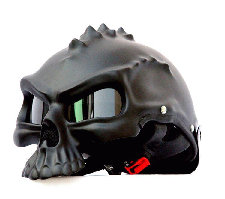 Masei 489 Date À Double Usage Crâne Moto Casque Capacetes Casco Nouveauté Rétro Casque Moto La Moitié Du Visage Casque livraison gratuite