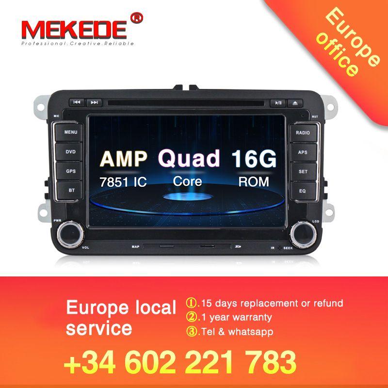Android 8.1 Auto DVD GPS Navigation 1024*600 Quad Core für VW Volkswagen Skoda POLO GOLF 5 6 PASSAT JETTA TIGUAN TOURAN Caddy