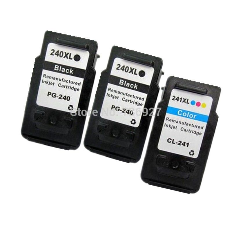 2BK+1C Ink Cartridge PG240 PG-240 CL241 CL-241 XL For Canon PIXMA MX432 MX372 MX512 MG4120 MG2120 inkjet  printer