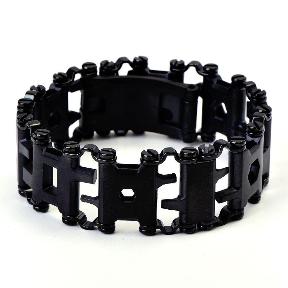 QIYIGE acier inoxydable multi-fonctionnelle bande de roulement bracelet résistant à l'usure outils Punk en plein air tournevis livraison combinaison outils