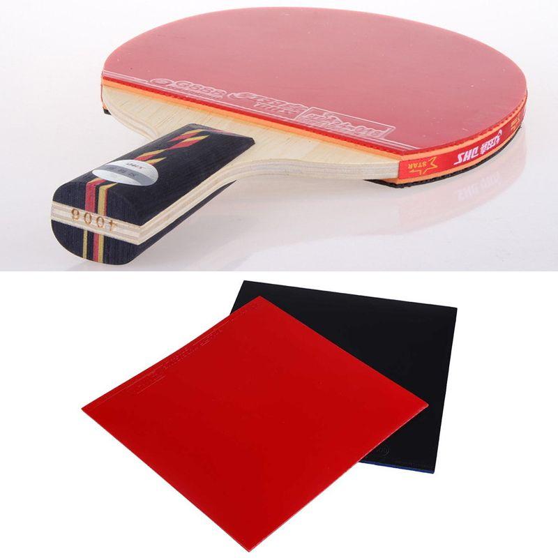 Forfar 2 stücke 1 paar Neue Tischtennis Schläger Pickel In Ping Pong Raquette Gummi Schwamm Rot/Schwarz Hohe qualität 16*16,5*0,2 cm