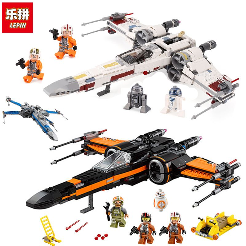 Lepin 05145 05004 05029 legoinglys 75218 75149 75102 Star fighter First Order Poe's X Wing Fighter Wars Building Blocks Bricks