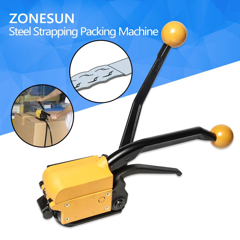 ZONESUN High Quality! A333 Manual Seallesspp Steel Straing Packing Tool,Steel Strapping Bander,Metal Strip Machine For 13-19mm