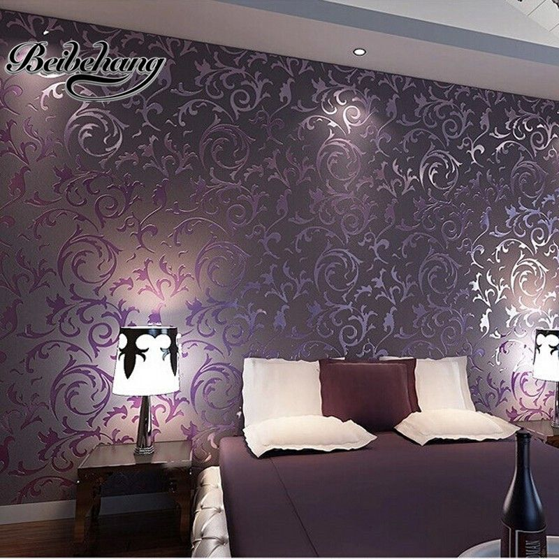 Beibehang обои высокого качества обои 3D модные Papel де Parede спальня фон рабочего стола стены бумага в рулонах белый фиолетовый