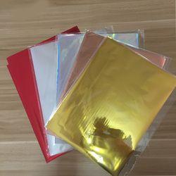50 Pcs Mixte Couleur Estampage À Chaud Feuille Papier Plastifieuse Transfert sur L'élégance Laser Imprimante Pressage à Chaud Artisanat Papier 20x29 cm 5 couleurs