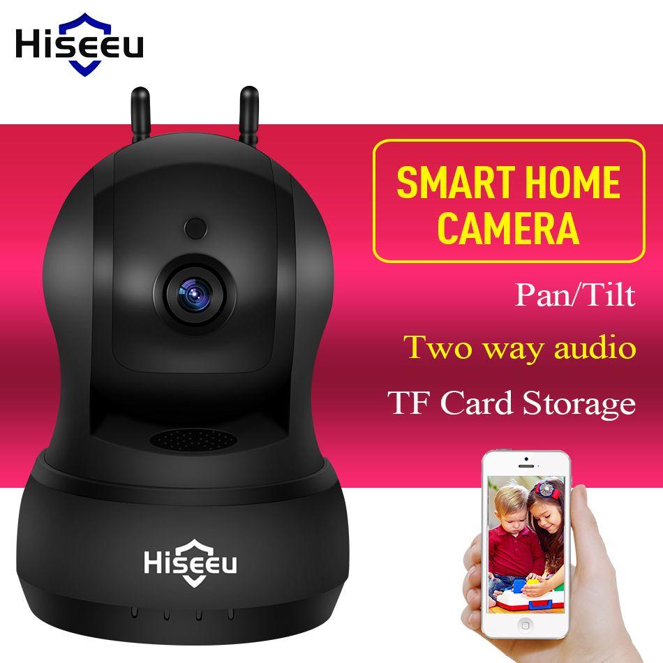 Hiseeu 720P IP Camera Wi-Fi Wireless Network camera wifi HD TF Card Record Home Security CCTV Camera baby monitor pan/Tilt