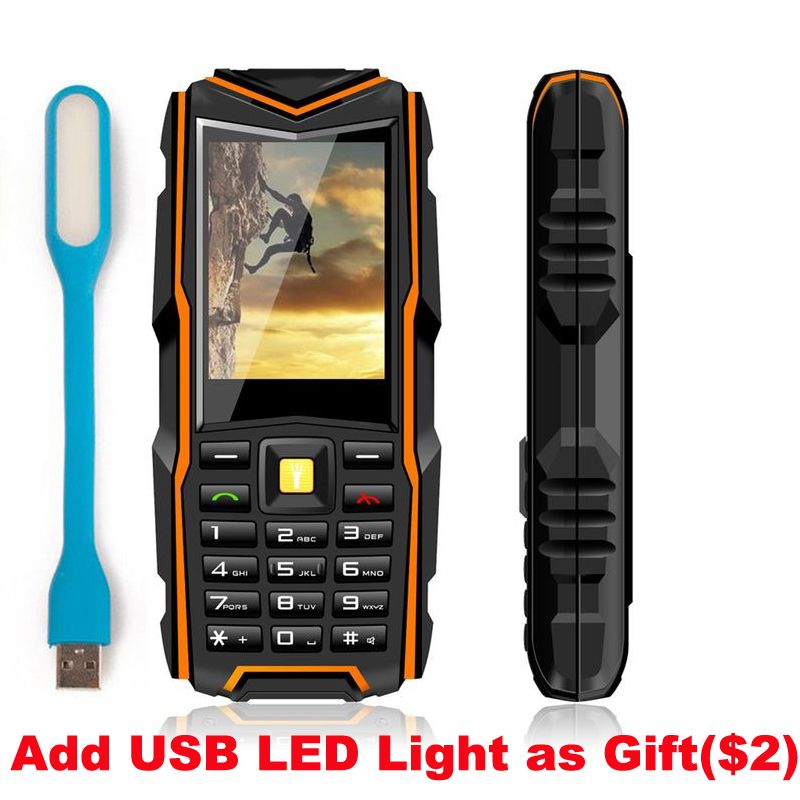 Original V3 IP67 Waterproof Shockproof Dustproof Mobile Phone Power Bank Long Standby Outdoor Army 5200mAh